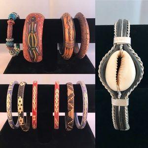 Jewelry - 11 Global Ethnic Bracelets Bangles Wanderlust Lot